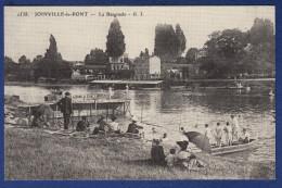 94 JOINVILLE LE PONT La Baignade ; Barque, Vélos, La Marne - Animée - Joinville Le Pont