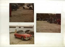 FRANCE 33 . LOT DE 3 PHOTOS  D'UN RASSEMBLEMENT AUTOMOBILE . - Automobile