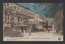 DF / 34  HERAULT / LAMALOU-LES-BAINS / HÔTEL BELLEVILLE ET AVENUE CHARCOT / ANIMÉE / CIRCULÉE EN 1928 - Lamalou Les Bains