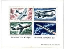 MISS116 - GABON  1962 , Aerei Il Foglietto ***   MNH - Gabon (1960-...)