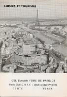 PARIS - Carte Radio Club O.R.T.F. Club Mondovision,rue Des Pyrénées,Paris 75020 - Radio & TSF