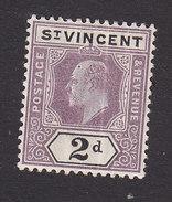 St Vincent, Scott #73, Mint Hinged, King Edward VII, Issued 1902 - St.Vincent (...-1979)