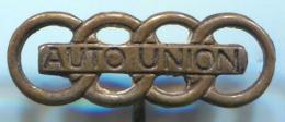 AUTO UNION - Car Auto, Automotive, Vintage Pin, Badge, Abzeichen - Audi