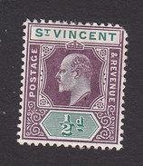 St Vincent, Scott #82, Mint Hinged, King Edward VII, Issued 1904 - St.Vincent (...-1979)