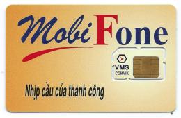 Telecarte Vietnam Viet Nam Carte SIM Mobi Fone Neuve TB VMS Comvik 2 Scans - Viêt-Nam