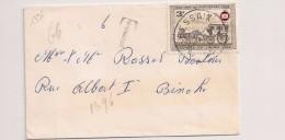BRIEF LETTRE COB 1394 RESSAIX 1966, TAXE 6fr Seul Sur Lettre / Alleen Op Brief Strafport 6fr - Belgium