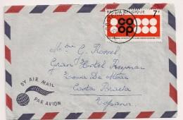 BRIEF LETTRE COB 1536 Seul / Alleen OOSTENDE -> Espana 20-7-1970 ( Vroeg Gebruik - Usage Tôt) - Belgium