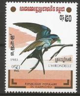 Kampuchea (Cambodja) - MNH - Family SWALLOWS : Barn Swallow (Hirundo Rustica ) - Zangvogels