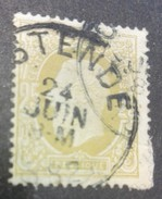 25 Centimes Belgique Tampon Ostende - Belgique