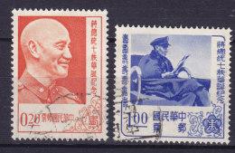 Taiwan 1956 Mi. 244, 246  Präsident Chiang Kai-shek - 1945-... Republik China