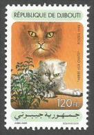 Djibouti 1998 Chats Cats Valeriana Yvert 736B Michel 667 Mint MNH - Djibouti (1977-...)