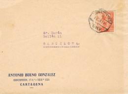 20113. Frontal CARTAGENA (Murcia) 1954. AMBULANTE Ferrocarril - 1931-Hoy: 2ª República - ... Juan Carlos I