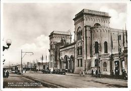 BARI - FIERA DEL LEVANTE - ENTRATA MONUMENTALE - ANIMATA - AUTO - F/G - V: 1934 - Bari