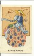 """Bonne Année. Jeune Femme """"Belle Epoque"""" Dans La Neige. 1950 - New Year"""