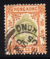 HONG KONG N° 80 OBLITERE COTE 6 € - Hong Kong (...-1997)