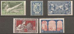 France 1924 - 1929 5 Timbres,  212 Et 263 Neuf ** - 183, 209 Et 245 Neuf * Départ Petit Prix - Altri