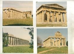 ITALIE  . LOT DE 4 PHOTOS DES RUINES DE PAESTUM . - Orte