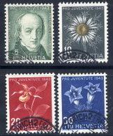SWITZERLAND 1943 Pro Juventute Set  Used.  Michel 424-27 - Pro Juventute
