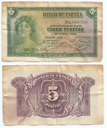 España - Spain 5 Pesetas 1935 Pick 85.a Ref 1196 - [ 2] 1931-1936 : Republiek