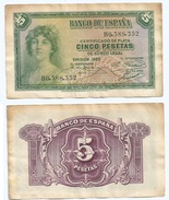 España - Spain 5 Pesetas 1935 Pick 85.a Ref 1197 - [ 2] 1931-1936 : Republiek