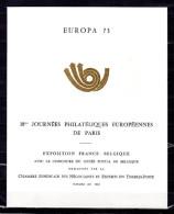 """FRANCE 1973 : Encart 1er Jour De 4 Pages (N° 322) """" EUROPA 1973 / EXPO FRANCE / BELGIQUE """". Parfait état. FDC"""