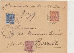 1903 Floreale C.10+20+25 Su Lettera Assicurata Primo Porto In Tariffa Cent. 55 (Vedi 2 Foto) - 1900-44 Vittorio Emanuele III