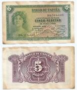 España - Spain 5 Pesetas 1935 Pick 85.a Ref 1201 - [ 2] 1931-1936 : République
