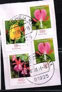 Bund 2015, Michel# 3190 O Auf Papier Mit Weiteren Blumen - BRD