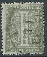 1863-65 REGNO USATO TIRATURA LONDRA CIFRA 1 CENT - R-5 - 1861-78 Vittorio Emanuele II