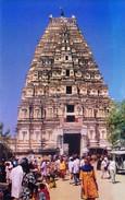 INDIAN COLOUR PICTURE POST CARD - SRI VIRUPAKSHA TEMPLE, HAMPI, SOUTH INDIA - ARCHITECTURE - India