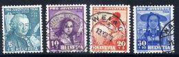SWITZERLAND 1938 Pro Juventute Set Used.  Michel 331-34 - Pro Juventute