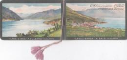 """CALENDARIETTO BERTELLI MILANO AL PROFUMO """"AMBERGRIS""""VEDUTE LAGO DI GARDA 2 SCANNER-2-882-26261-262 - Petit Format : 1901-20"""