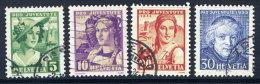 SWITZERLAND 1933 Pro Juventute Set Used.  Michel 266-69 - Pro Juventute