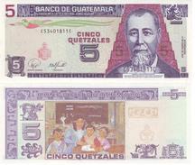 Guatemala 5 Quetzal 2007 Pick 106.c UNC - Guatemala