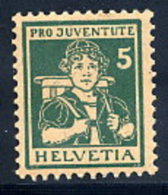 SWITZERLAND 1916 Pro Juventute 5 C. LHM / *.  Michel 131 - Pro Juventute