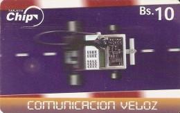 *BOLIVIA* - Scheda A Chip Usata