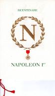 """FRANCE / MONACO 1969 : Encart 1° Jour De LUXE CERES N°té Sur SOIE De 4 Pages """" NAPOLEON """". N° YT 1610  Parfait état. FDC"""