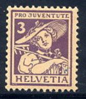 SWITZERLAND 1916 Pro Juventute 3 C. MNH / **.  Michel 130 - Pro Juventute