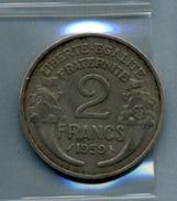 1959 2 Francs TYPE MORLON Al - Frankrijk