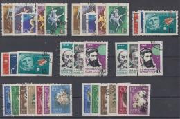 Rußland Lot 4 Sätze Aus 1963/64 Gezähnte Und Geschnittene Ausgaben Gestempelt - Briefmarken