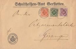 Württemberg Brief Mif Minr.150,152,154 Gerstetten 15.6.21 Geprüft - Wuerttemberg