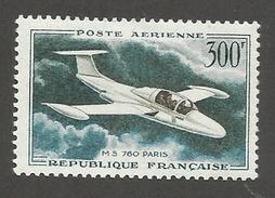 FRANCE - POSTE AERIENNE N°YT 35 NEUF* AVEC CHARNIERE - COTE YT : 4.60€ - 1957/59 - Poste Aérienne