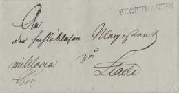 Brief L1 Hechthausen Gel. Nach Stade Von 1843 - Deutschland