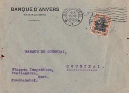 Dt. Besetung In Belgien Brief EF Minr.19 Antwerpen 9.3.18 - Occupation 1914-18