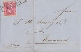 Preussen Brief EF Minr.10 R2 Uerdingen 9.4. Gel. Nach Emmerich - Prusse