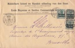 Dt. Besetzung In Belgien Brief Mef Minr.3x 2 Antwerpen 17.7.16 Zensur - Besetzungen 1914-18