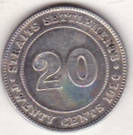 STRAITS SETTLEMENTS. 20 CENTS 1926. GEORGE V. ARGENT - Malaysie