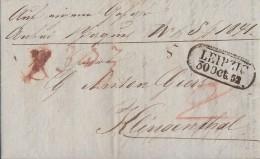 Sachsen Brief Leipzig 30.10.1852 Gel. Nach Klingenthal - Sachsen