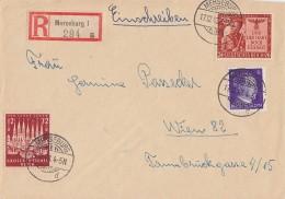 DR R-Brief Mif Minr.785,862,863 Merseburg 17.12.43 Gel. Nach Wien - Deutschland