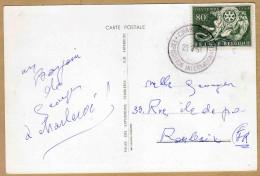 Carte 953 Foire Internationale De Charleroi Le Verso De La Carte Est Une Vue Extérieure Du Hall Des Expositions - Bélgica